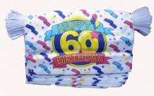 HAPPY 60TH BIRTHDAY BUNTING - 9 METRES 30 FLAGS